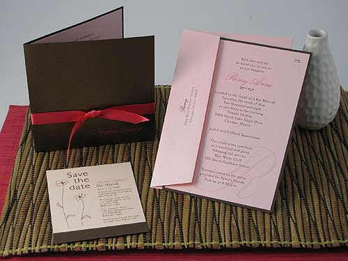Brown and pink wedding invitations certified bride chilla so here are the sample designs i want for my invites stopboris Choice Image