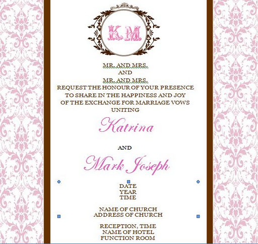 Brown and pink wedding invitations certified bride chilla our rsvpcard stopboris Choice Image