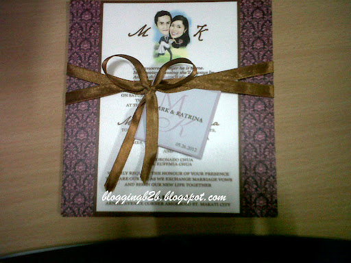 Brown And Pink Wedding Invitations
