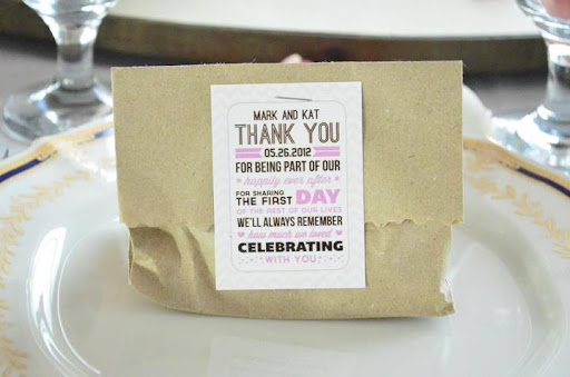 Wedding Favor Ideas For Principal Sponsors : Suppliers Review: Edible Wedding Favors (Oatmeal Cookies by Macey)